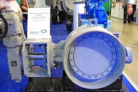 3х эксцентриковый дисковый затвор типа V3-06-3E Ду500 Ру25 под приварку с приводом AUMA на пар +320С 13 атм