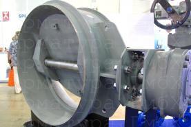 3х эксцентриковый дисковый затвор типа V3-06-3E Ду1400 Ру25 под приварку с приводом AUMA