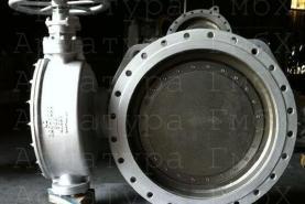 Металлоуплотненный затвор Ду800 Ру25 с ручным приводом