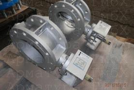 3х эксцентриковый дисковый затвор типа V3-06-3E Ду200 Ру16 фланцевый, на пар +320С